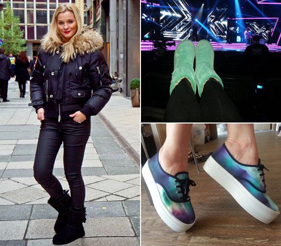 A 37 éves sztár rajong a cipőkért, azok közül is a különleges darabokért - még hótaposó csizmát vagy magas talpú, tarka tornacipőt is szívesen hord.