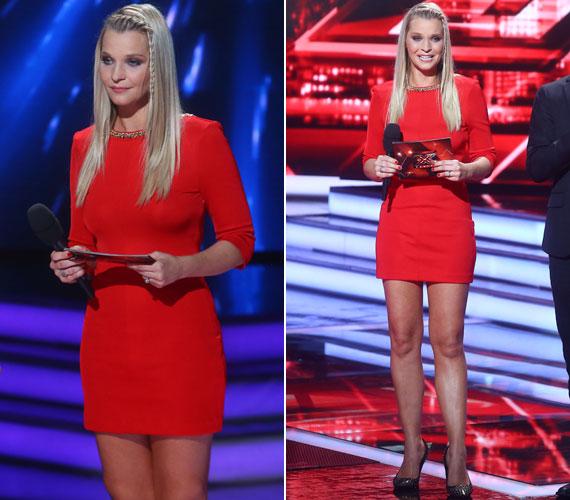A tavalyi X-Faktorban az első nagy sikerét is egy tűzpiros ruhában aratta a hetedik élő show-ban. A hosszú ujjú, egyszerű, testhezálló miniruha tökéletes választás volt.