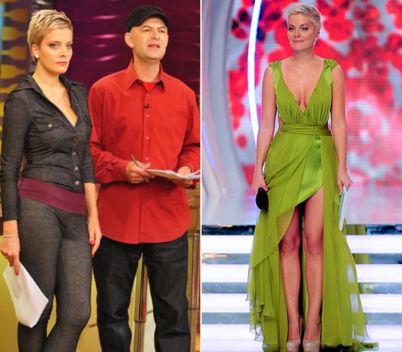 Tatár Csilla sem választhat mindig tökéletes ruhákat. A nézők szerint a bal oldali képen látható összeállítás előnytelen volt, mintha nadrágként viselt volna leggingset. A jobb oldali zöld ruhában azonban elragadónak találták.