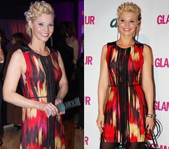 A 2011-es Glamour-gálán egy piros mintás miniruhát viselt. Az estén nemcsak bókokkal, de az év műsorvezetőjének járó szobrocskával is gazdagodott.