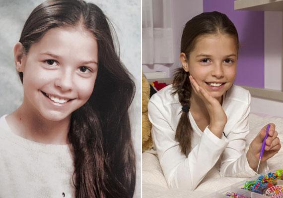 Demcsák Zsuzsa kislánya nagyon hasonlít az édesanyjára, Tamara idén júniusban lesz kereken 10 éves.