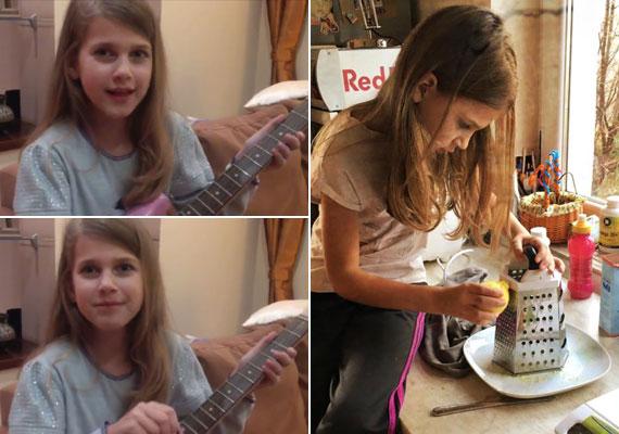 Várkonyi Andrea és Bochkor Gábor kislánya, Nóri áprilisban lesz 9 éves. Egy ekkora lányka természetesen már a bejgli-készítésbe is besegített.