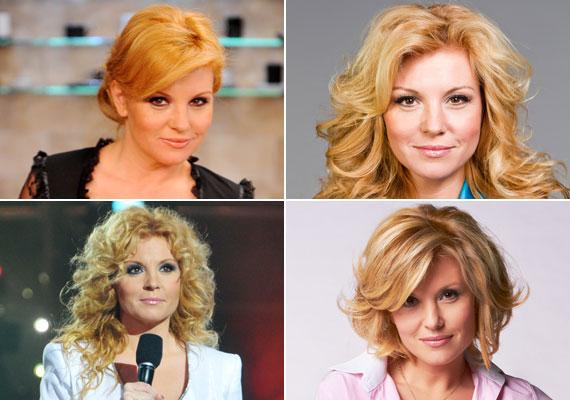 A TV2 műsorvezetője vörösből az évek során fokozatosan szőke lett, és a szín mellett a hajhossz is gyakran változott.