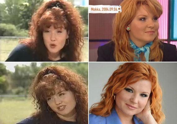 A Szomszédok című sorozatban még vörösesbarna, csigás hajjal ismertük meg, a TV2 műsorvezetője és a Jóban Rosszban szereplője már vörösként lett.