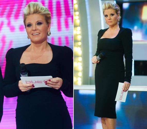 A 2013-as adásban is elbűvölte a nézőket egy kis feketével: a Dolce & Gabbana térd alá érő, testhezálló darabja kiemelte nőies idomait.