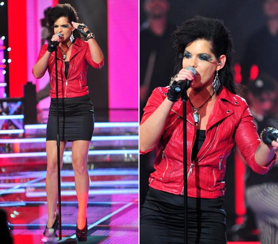Dér Heni, a Sugarloaf énekesnője, egykori Megasztár-versenyző szintén nem takargatta gyönyörű lábait és kifogástalan alakját, ő a dögös öltözet mellett döntött.