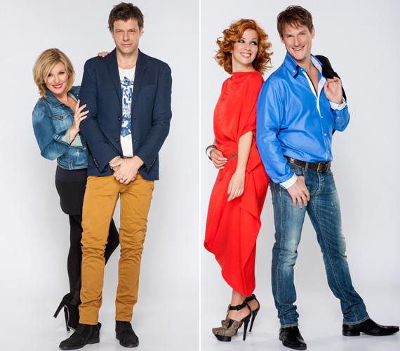 A SuperTV2 műtermi fotóihoz is miniszoknyában állt a kamrák elé. Kolléganője, a színésznő Kovács Patrícia és Fenyő Iván is vezeti majd a SuperMokkát.