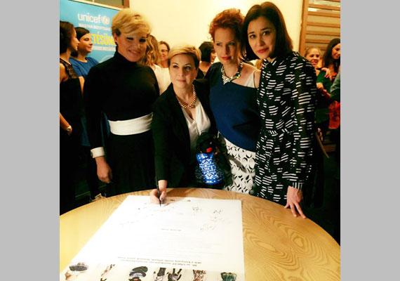 Liptai Claudia, Ábel Anita, Dobó Kata és Gryllus Dorka is az UNICEF kezdeményezése mellé állt.