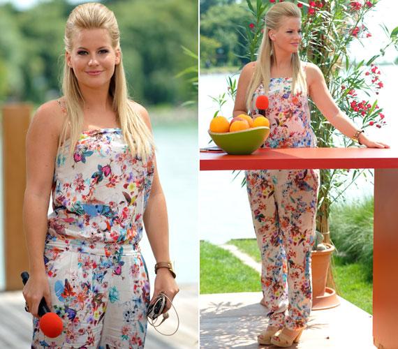 Az overall idén nyáron sem ment ki a divatból - ahogy Mádai Vivienen is látható, most színes virágos és lepkés mintákkal volt igazán trendi.