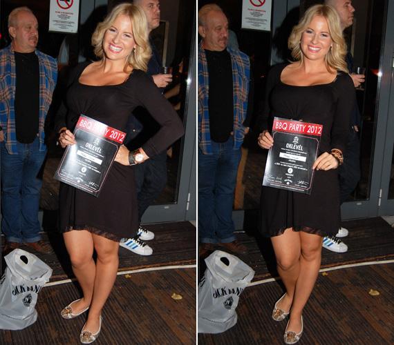 Mádai Vivien szeptember végén ebben a rövid ruhában mutatta meg csinos alakját egy főzőversenyen.