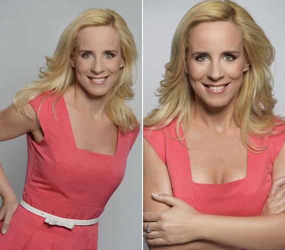 Kolléganője, Pataki Zita is remek formában van. Az RTL Klub műtermi képein ő is hasonló, rózsaszín árnyalatú ruhában látható.