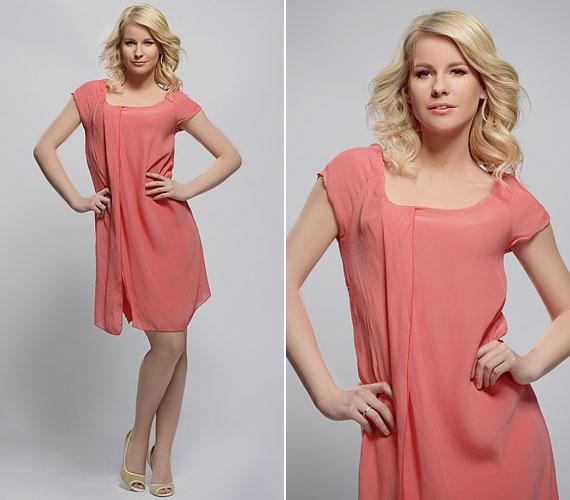 Remekül áll neki a lenge nyári ruha, amit a műtermi képek is bizonyítanak.