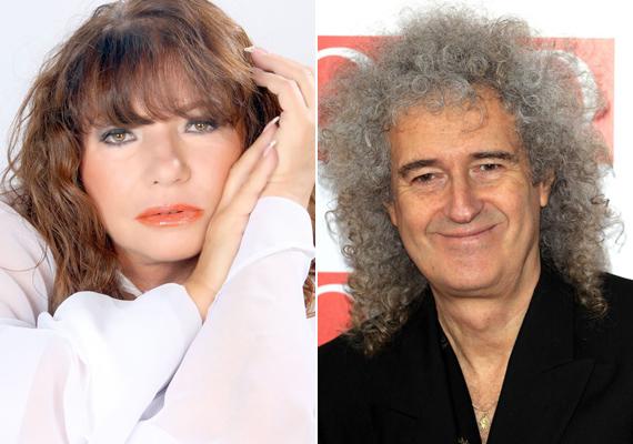 Cini duplázott, ami a világsztár férfiakat illeti: Brian May-jel, a Queen mosolygós gitárosával a '80-as években gabalyodtak egymásba. Mivel ez csak egy futó szerelmi kaland volt, jóval kisebb sajtóvisszhangot kapott a Bee Gees-es sztorinál.