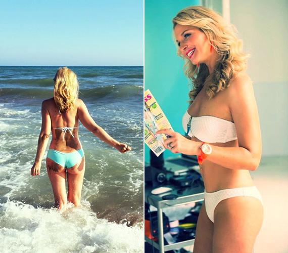 Lilu formás feneke sok dicséretet kapott. A műsorvezető egy hónapja bikinis címlapfotózáson is részt vett.