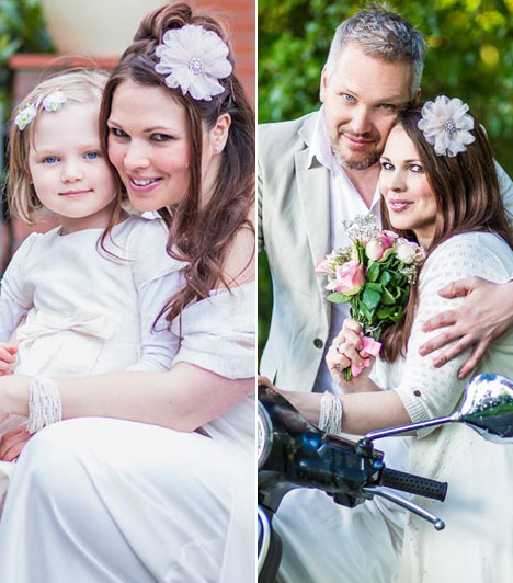 Palotás PetraAz RTL Klub egykori műsorvezetője, aki ma már könyveket ír és Németországban él, 2014 szeptemberében hét év együttélés után ment hozzá kislánya édesapjához, a német Mirko Reich-hez. Bora 2009 januárjában született, ő volt a kis koszorúslány a nagy napon.