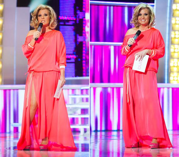 Liptai Claudia nem gyakran szokott földig érő ruhákat húzni, a TV2 A Nagy Duett 2013-as évadának egyik adásában viszont megtette. A barackszínű estélyi azért combtájékon fel volt sliccelve, így hossza ellenére meglehetősen pikáns viseletnek bizonyult.