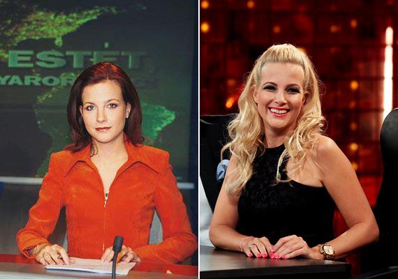 Várkonyi Andrea vörös hajjal - a TV2 híradósáról 2002-ből való a fotó, míg a másik kép nemrégiben készült róla a Kasza! show-ban. A 40 éves tévés elképesztően néz ki most, sokkal jobban állnak neki a szőke fürtök, és láthatóan élvezi az élet minden pillanatát.