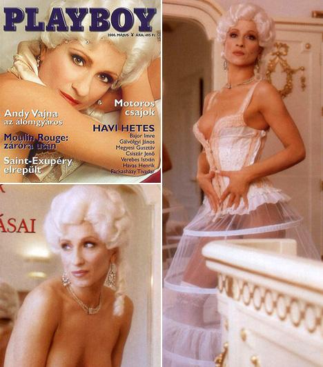 Détár EnikőA vörös hajú díva 2000 májusában szerepelt a Playboy címlapján - Játék a kastélyban alcímmel. Nem volt teljesen pucér, fűzővel vagy krinolinnal takarta azt, amit nem kívánt megmutatni.
