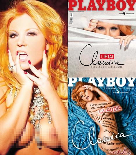 Liptai Claudia2009 októberében a Playboy ezzel a cseles címlappal csalogatta a színésznő meztelen testére kíváncsiakat. Az exkluzív előfizetői példány kék hátteres címlapján már nem bíztak sokat a fantáziára.