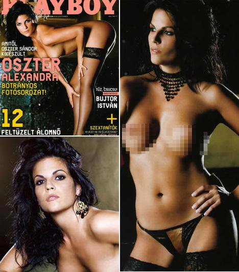 Oszter AlexandraAz azóta anyukává érett színésznő 2007 szeptemberében teljesen meztelenül pózol a magazinnak. A fotózás kedvéért kemény fogyókúrába és edzésbe kezdett. A képek láttán megérte sanyargatnia magát.