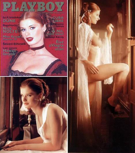Ullmann Mónika                         A vörös hajú sztár 1999 decemberében sok férfi számára adott kellemes karácsonyi ajándékot azzal, hogy levetkőzött a Playboynak. A címlapon még visszafogott, de a belső oldalakon igencsak ledér volt.