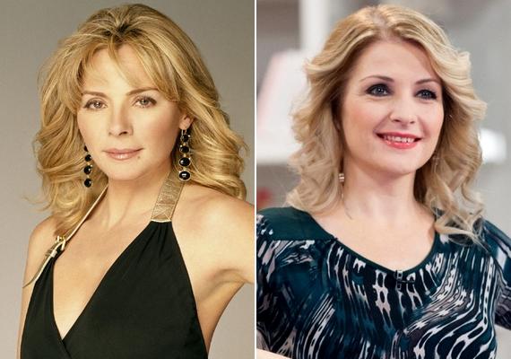 A Szex és New York másik kiemelkedő hasonlósága a Samanthát alakító Kim Cattrall és magyar hangja, Létay Dóra között észlelhető. A két szőke színésznőnek még a mimikája is emlékeztet egymásra, így még könnyebben elhisszük, amikor Samantha magyarul beszél. Létay Dóra nemcsak szinkronizál, maga is játszott sorozatszerepet: ő volt például dr. Pongrácz Réka a Jóban Rosszban című magyar produkcióban.