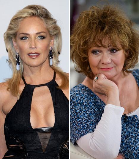 Sharon Stone és Básti Juli                         Az Elemi ösztön szépséges sztárja, Sharon Stone 57, míg szinkronhangja, Básti Juli 58 éves. Mindkettőjüknek három fia van. A magyar színésznő másik híres szinkronszerepe Peggy az Egy rém rendes családból.                         Kapcsolódó sztárlexikon:                         Ilyen volt, ilyen lett: Básti Juli