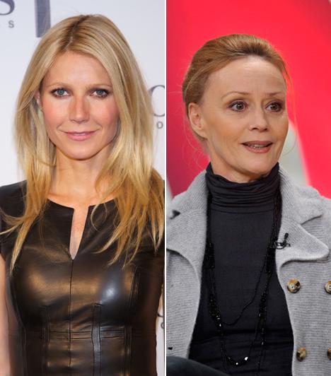 Gwyneth Paltrow és Nagy-Kálózy Eszter                         A 42 éves Gwyneth Paltrow állandó magyar hangja nem más, mint a 49 éves Nagy-Kálózy Eszter. A magyar színésznőnek három gyermeke van, Flóra 28, Olivér 24, Szonja pedig 21 éves. A két kisebbnek Nagy-Kálózy Eszter férje, Rudolf Péter az apukája. Ő adja A médium című sorozatban a főszereplő Patricia Arquette hangját is. Gwyneth két gyerek anyukája, lánya, Ava 12 éves, fia, Moses tízesztendős.