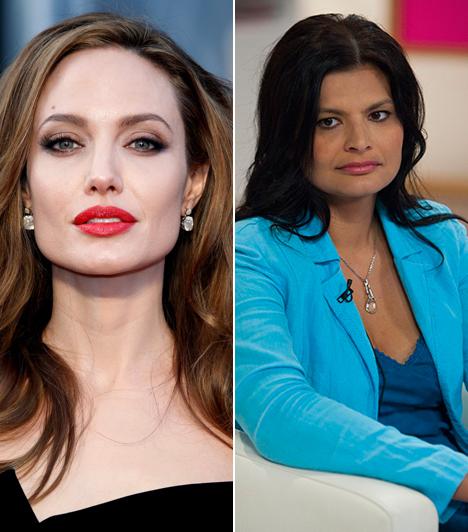 Angelina Jolie és Kéri Kitty  A 40 éves Angelina Jolie magyar hangja nem más, mint a 42 éves Kéri Kitty, aki a Szex és New Yorkban Charlotte-ot is megszólaltatta. Sokszor szinkronizálja még Penélope Cruzt és Salma Hayeket is. A Bűbájos boszorkákban Kitty hangját hallhattuk, amikor Prue, vagyis Shannen Doherty tűnt fel a tévéképernyőn.  Kapcsolódó sztárlexikon: Ilyen volt, ilyen lett: Angelina Jolie