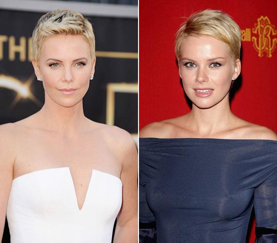 Charlize Theron és Osvárt Andrea: a dél-afrikai színésznőnek remekül áll a rövid, szőke haj, csakúgy, mint a magyar sztárnak. Amiben még hasonlítanak, hogy mindketten 16 éves korukban kezdtek el modellkedni, ezt váltották fel aztán a színészkarrierrel. Ráadásul a szülőhazájuktól távol lettek igazán sikeresek - a 39 éves Charlize Hollywoodban, a nála négy évvel fiatalabb Osvárt Andrea pedig Olaszországban.