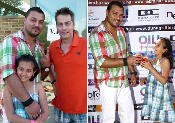 Gáspár Laci is elhozta kislányát, Mirit a strandpartira, de Laci nemcsak a napsütést élvezte, hanem fel is lépett az eseményen.