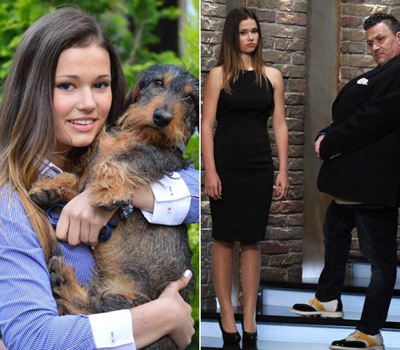 Galambos Lajos gyönyörű, 16 éves lányát, Boglárkát is felkérték már modellnek - a bal oldali képet és alakját elnézve nem csoda.
