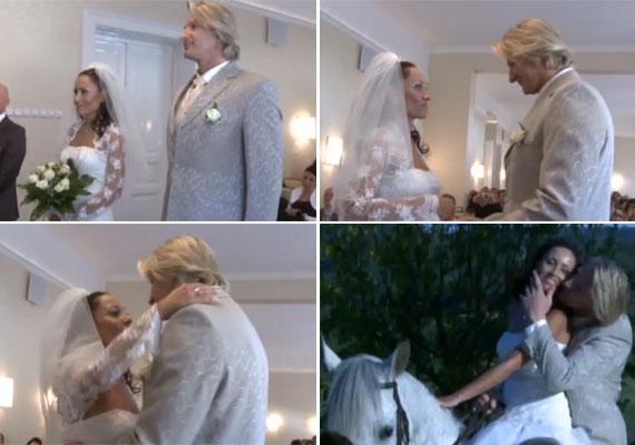 Pintér Tibor tíz év után május végén vezette oltár elé kisfia édesanyját, Beát, a szűk család és néhány barát jelenlétében. A lovakért rajongó színész fehér paripán érkezett, elénekelt egy részletet a Rómeó és Júliából, majd egy kaszkadőrmutatványt is bemutatott.