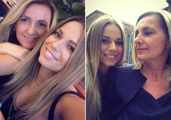 Mintha a fiatal énekesnő, Cserpes Laura mellett nem is az édesanyját, inkább a nővérét látnánk.