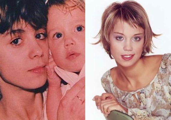 Kiss Ramóna és édesanyja egymás kiköpött másai, ha a Barátok közt színésznőjének pár évvel ezelőtti fotóját és édesanyja fiatalkori képét egymás mellé helyezzük.