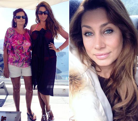 Horváth Éva a szeptemberi utónyaralásáról töltötte fel ezt a fotót a Facebookra róla és mamájáról, amikor Santoriniben kapcsolódtak ki.