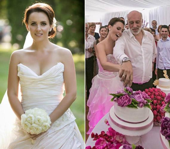 Csézy augusztus 13-án egy pazar esküvőn, könnyezve mondta ki a boldogító igent nála 20 évvel idősebb párjának. A 34 éves énekesnő egy saját maga által tervezett hófehér ruhában, hosszú fátyollal, 23 koszorúslány kíséretében vonult be a mezőkövesdi templomba.