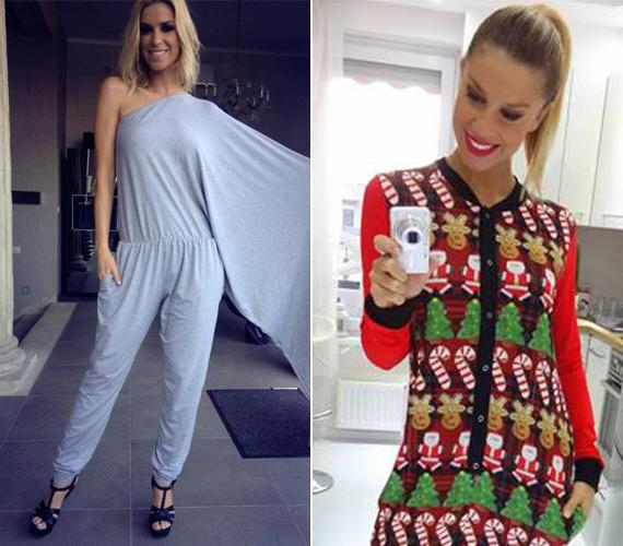 A 31 éves modell, Dukai Regina nagyon gyakran mutatja meg Facebook-oldalán, hogy éppen mi van rajta. Ő sem veti meg az overálokat, viselt már nyári, szürke, féloldalas darabot és téli, vastag mintás ruhát is.