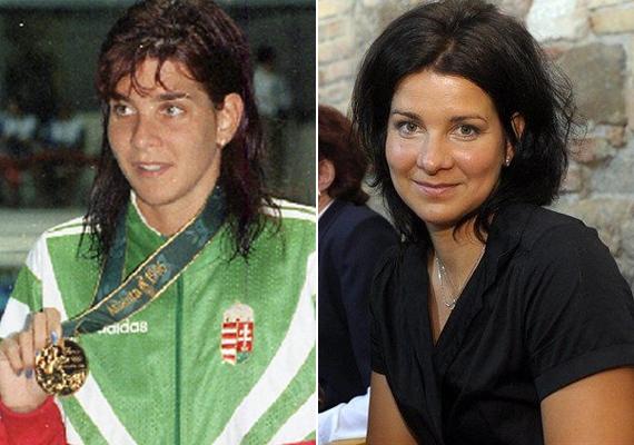 Egerszegi Krisztina 1996-ban az atlantai olimpián nyakában aranyérmével, miután a medencéből győztesként szállt ki. Háromgyerekes édesanyaként vonzóbb, mint valaha.