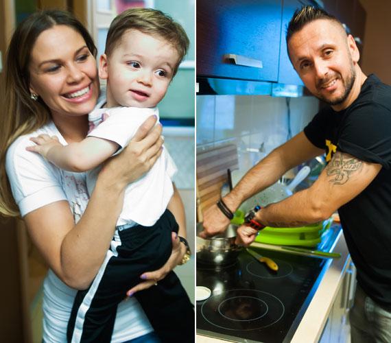 A Super TV2 Hal a tortán című műsorában Marián szórakoztatta a vendégeket addig, amíg édesapja, Majoros Péter, vagyis Majka a főzéssel volt elfoglalva.