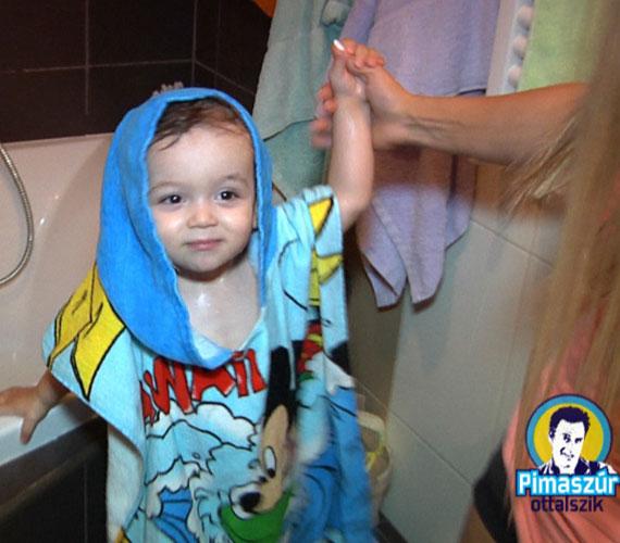 Az ennivaló kisfiú Papp Gergő Pimasz úr ottalszik című új műsorában is látható volt.