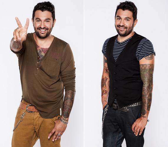 Az egyik legnépszerűbb magyar pop-rock énekes, a Magna Cum Laude frontembere, Mező Misi nem takargatta díszes tetoválásait.