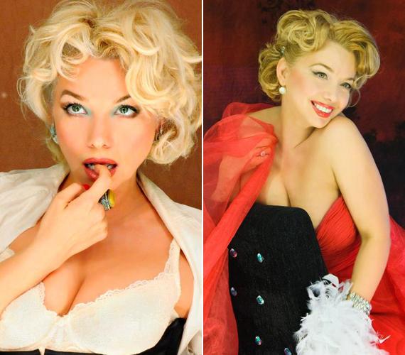 Marilyn Monroe bőrébe is belebújt, a képeket látva egy világhírű kozmetikum fel is kérte, hogy legyen a cég arca.