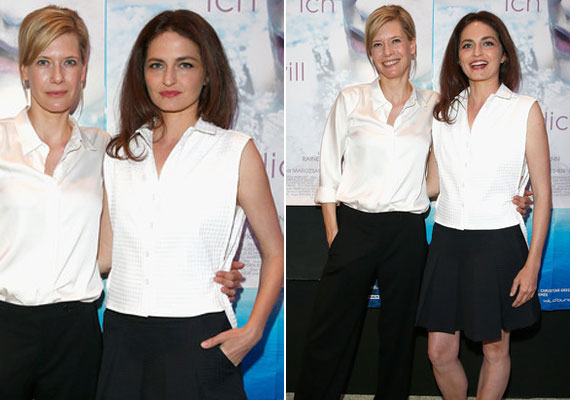 A 2014. július 2-án bemutatott Ich will dich című dráma müncheni premierjén egy egyszerű, fekete-fehér összeállításban is csodásan nézett ki.