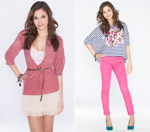 Réti Nórához is remekül illenek kedvenc színei, a türkizkék és a rózsaszín, nem is lehetne jobbat választani a bájos 17 éves lánynak.