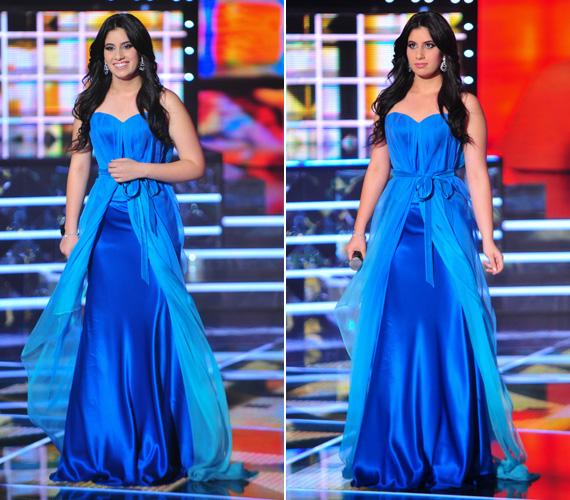 Radics Gigi álomszép, kék estélyi ruhájában bármelyik kifutón megállta volna a helyét.