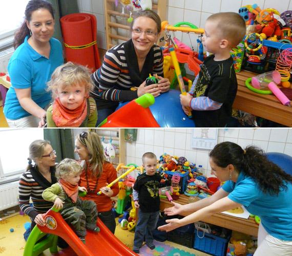 Felnőttek és gyerekek egyaránt élvezték a közös játékot.