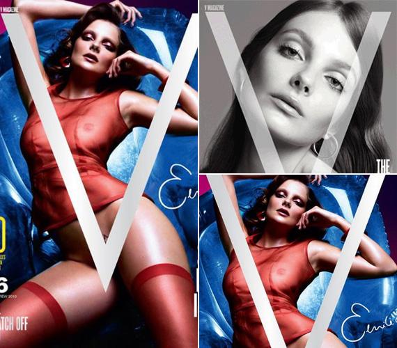 A V magazin 2010. júliusi száma is nagy feltűnést keltett, Enikő átlátszóban, provokatív pózban szerepel a címlapon.