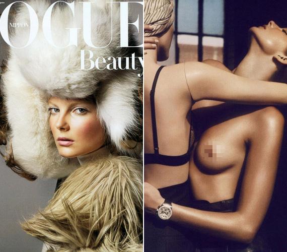 Terry Richardson kedvéért már többször meztelenre vetkőzött, például a párizsi és a japán Vogue-ban vagy a Purple magazin legfrissebb számában.