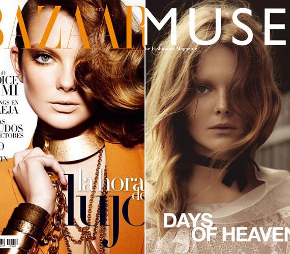 Arcára nem tudnak ráunni a fotósok és a divatszerkesztők, most júliusban a Harper's Bazaar kérte fel címlaplánynak, de a Muse is múzsájának választotta.